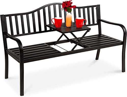 Best Choice Products Double Seat Steel Bench