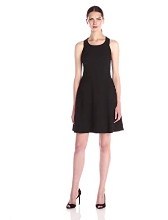 Jessica Simpson Women's Bow Back Fit and Flare Dress, Black, 2