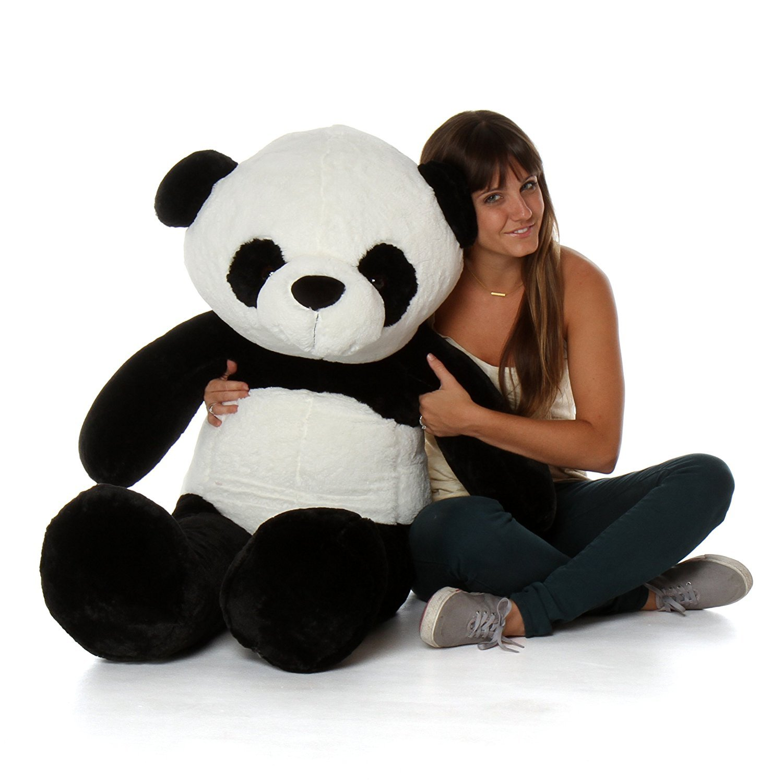 1c076bd8a44 Buy AVS 4 Feet Stuffed Spongy Panda Teddy Bear Birthday (White ...