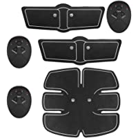 Muscle Toner, Abdominal Toning Belt Muscle Trainer ABS Training Gear with Rhythm and Soft Impulse-6 Modes 10 Levels for Abdomen/Arm/Leg Home Gyms Office Exercise Men Women