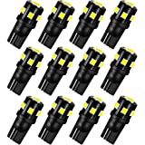 AUXLIGHT T10 921 194 168 912 LED Bulbs White 12-Pack, Super Bright 12 Volt LED Replacement for RV Camper Trailer Boat…