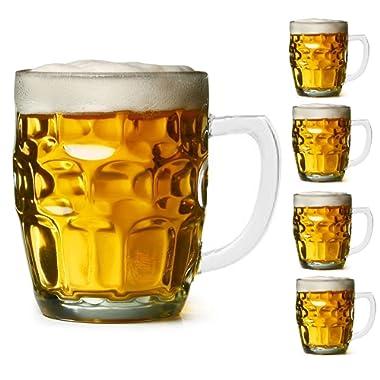 Dimple Stein Beer Mug - 18 Oz (4 Pack) (18 OUNCES)