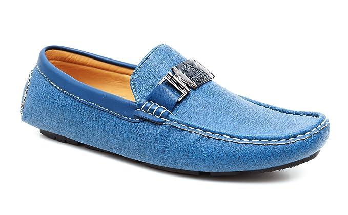 Evoga Mocasines para hombre Azul turquesa 40 turquesa 41: Amazon.es: Ropa y accesorios