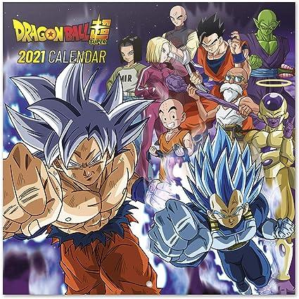 Erik® Calendrier Mural 2021 Dragon Ball Super   12 Mois, 30x30 cm