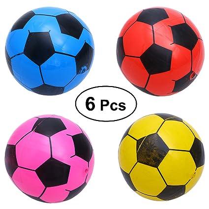ad0102d6dd066 TOYMYTOY Balón de Fútbol Bolas Pelotas Juguetes Deportivos para Niños Color  al Azar 6 Piezas