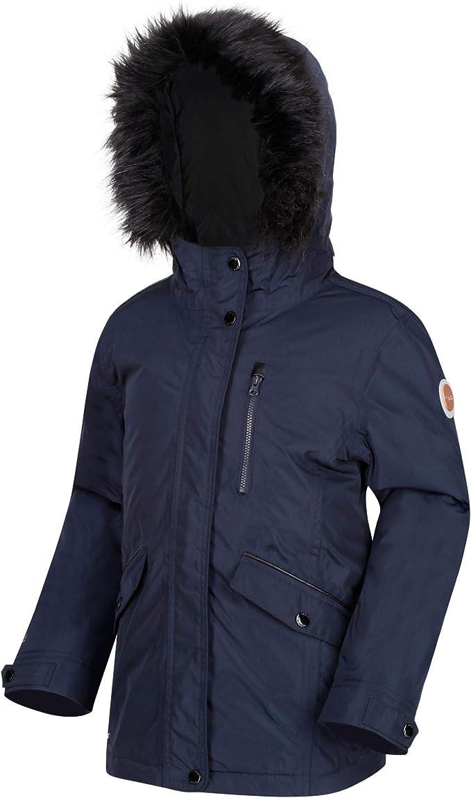 Regatta Kid's 'Palomina' Waterproof Insulated Hooded Jacket, Navy, 2XL (2XL),Regatta,RKP203 540K15