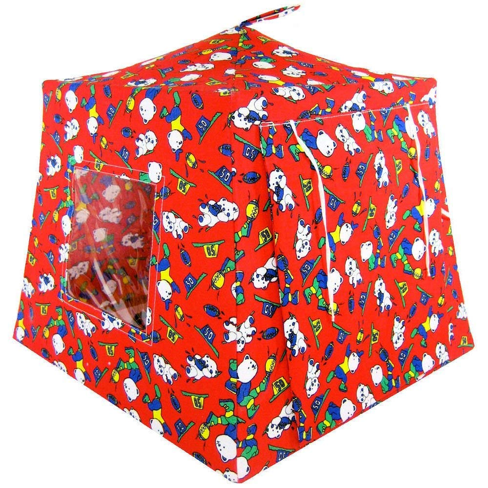 Toy Play Pop Up Tent, 2 Sleeping Bags, Red, Sports, Bear Print for Dolls, Stuffed Animals, Action Figures