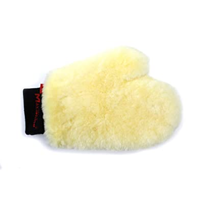 Maxshine Premium Sheepskin Wool Wash Mitt Lambswool Car Wash Glove Soft Smooth Scratch & Lint Free Scrubber for Car Detailing: Home & Kitchen