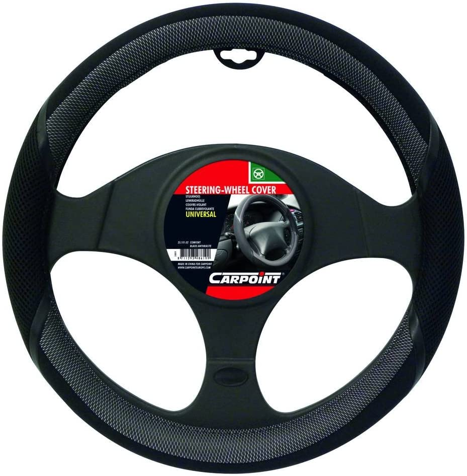 Carpoint 2510102 Comfort Steering Wheel Cover Black and Anthracite