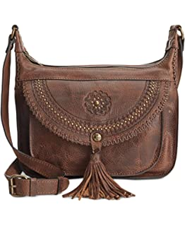 Amazon.com  Patricia Nash Camila Crossbody Bag Handbag Purse Tan ... 7a2c92610ce8d