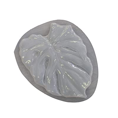 Tropical Leaf Stepping Stone Concrete Plaster Mold 1135: Home & Kitchen