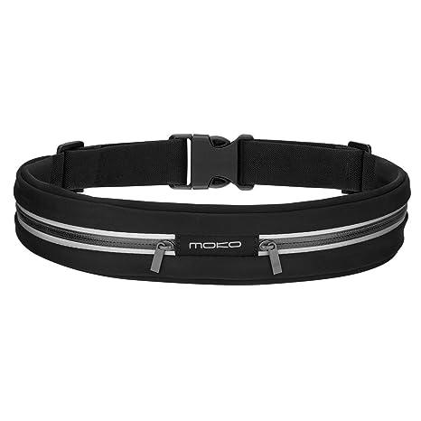 MoKo sport ceinture poche avec 2 pochettes et extensible  Amazon.fr ... 3ed0223eab8