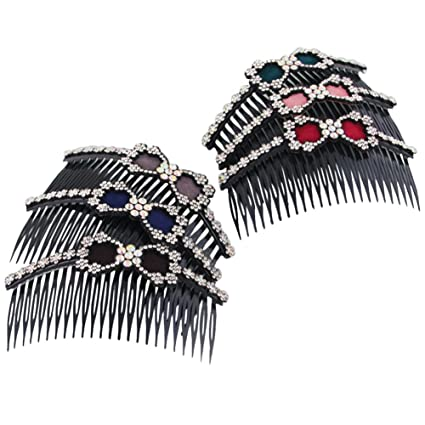 ShungFun - Peine de pelo para mujer, brillante, peine, pinzas para novia,