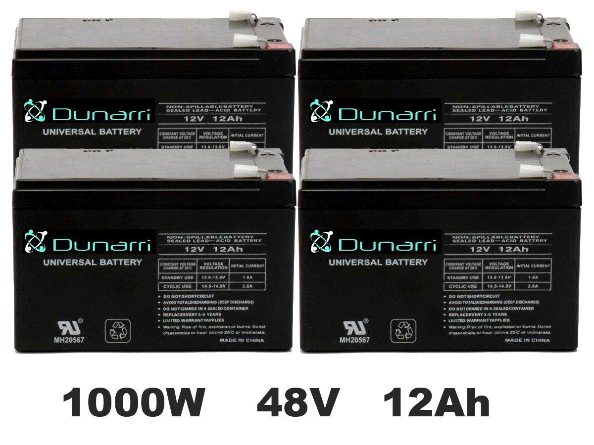 Battery Replacement Kit for 1000 Watt Cruzin Cooler by Dunarri