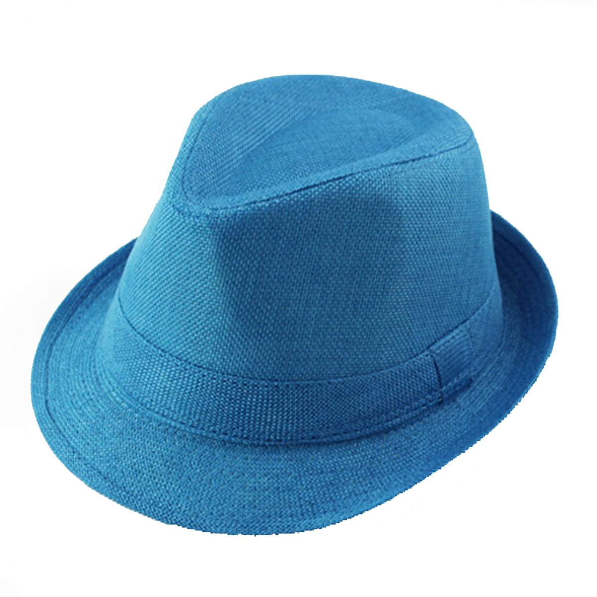 ECYC Children Jazz Hats Kids Solid Color Linen Fedoras Cap 12132