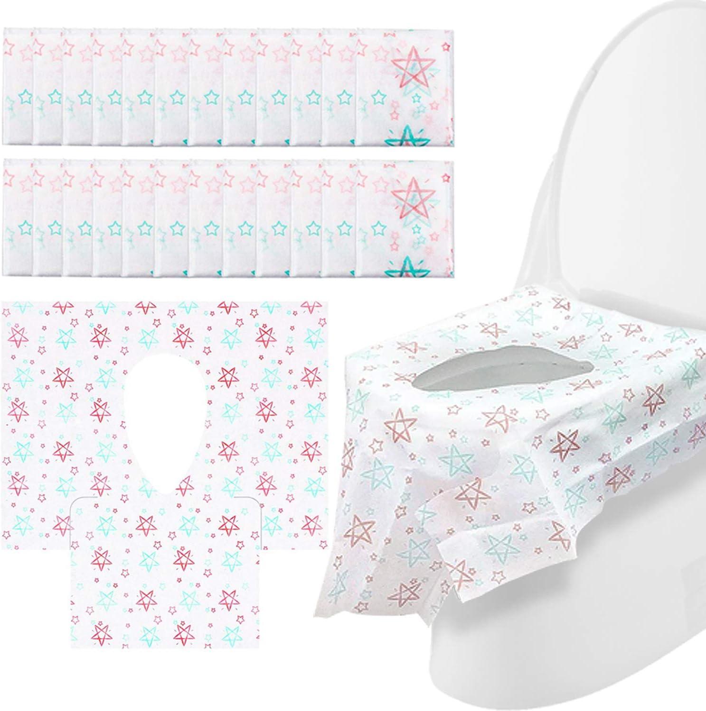 Cubierta del asiento para ir al baño - Cubiertas desechables para el asiento del inodoro