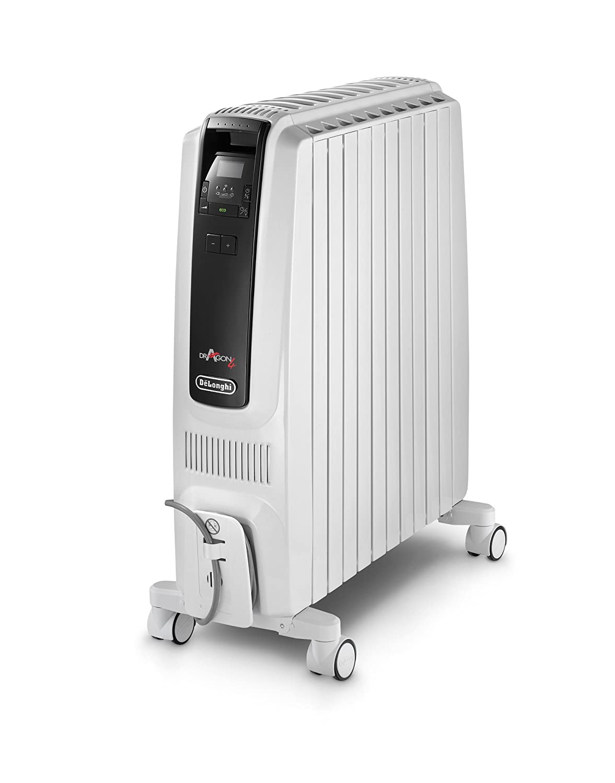 Lleno DeLonghi Dragón 4 Temporizador electrónico de aceite Radiador TRDS4 0820E, 2000 W - Blanco (Producto con enchufe de UK): Amazon.es: Hogar