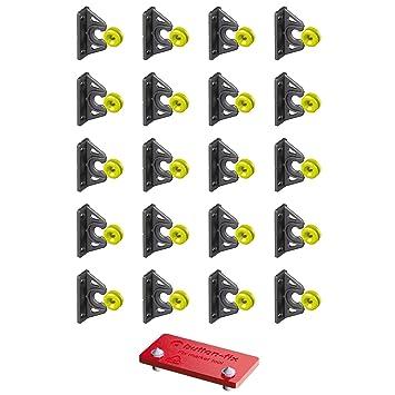Button Fix Halterungs-Set mit Markerwerkzeug zum Verbinden von 90-Grad-Paneelen 10 St/ück Typ 2