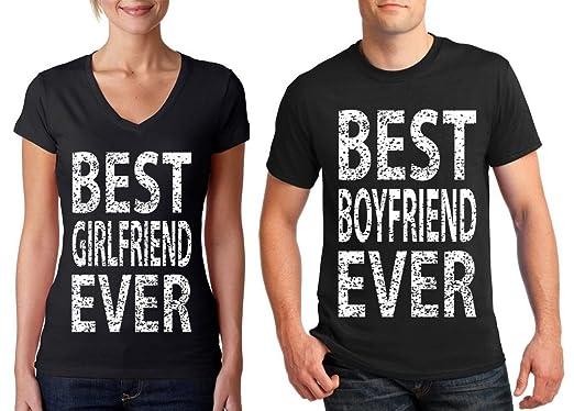 Amazoncom Matching Couple Shirts Best Boyfriend Girlfriend Ever V