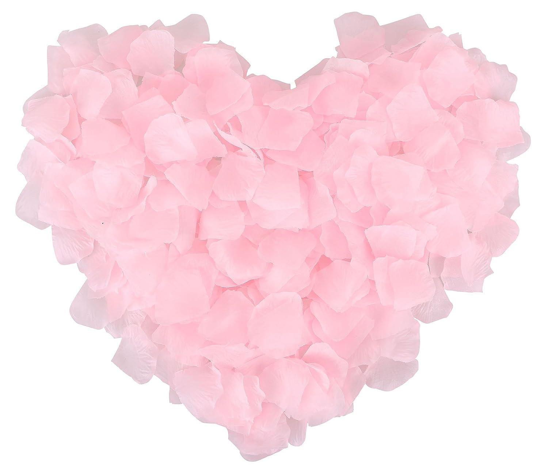 Amazon.com: 1000 Pcs Wedding Silk Rose Petals for Party Decoration ...