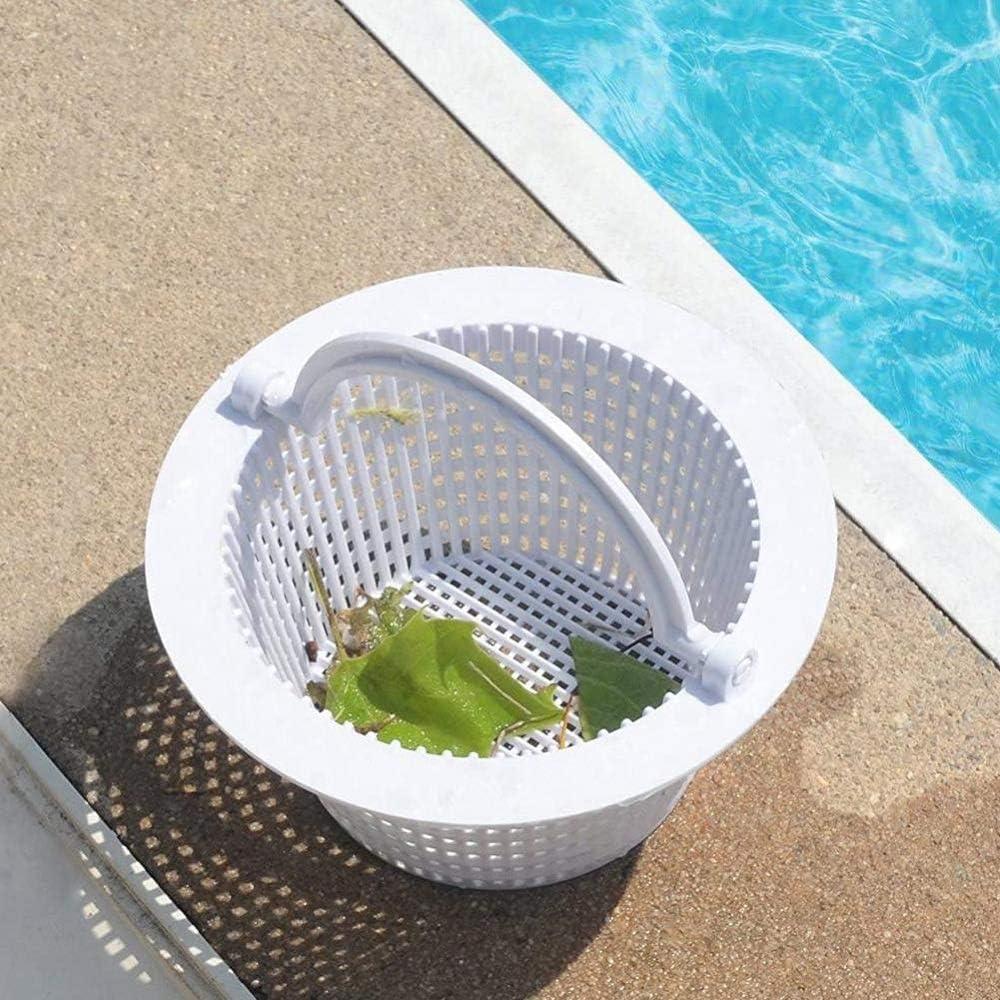 ALOP 2 Pcs en Plastique Poign/ée Piscine /Étang Skimmer Anti-obstruer L/éger Passoire Panier D/étachable Poign/ée Filtre de Stockage Piscine Skimmer