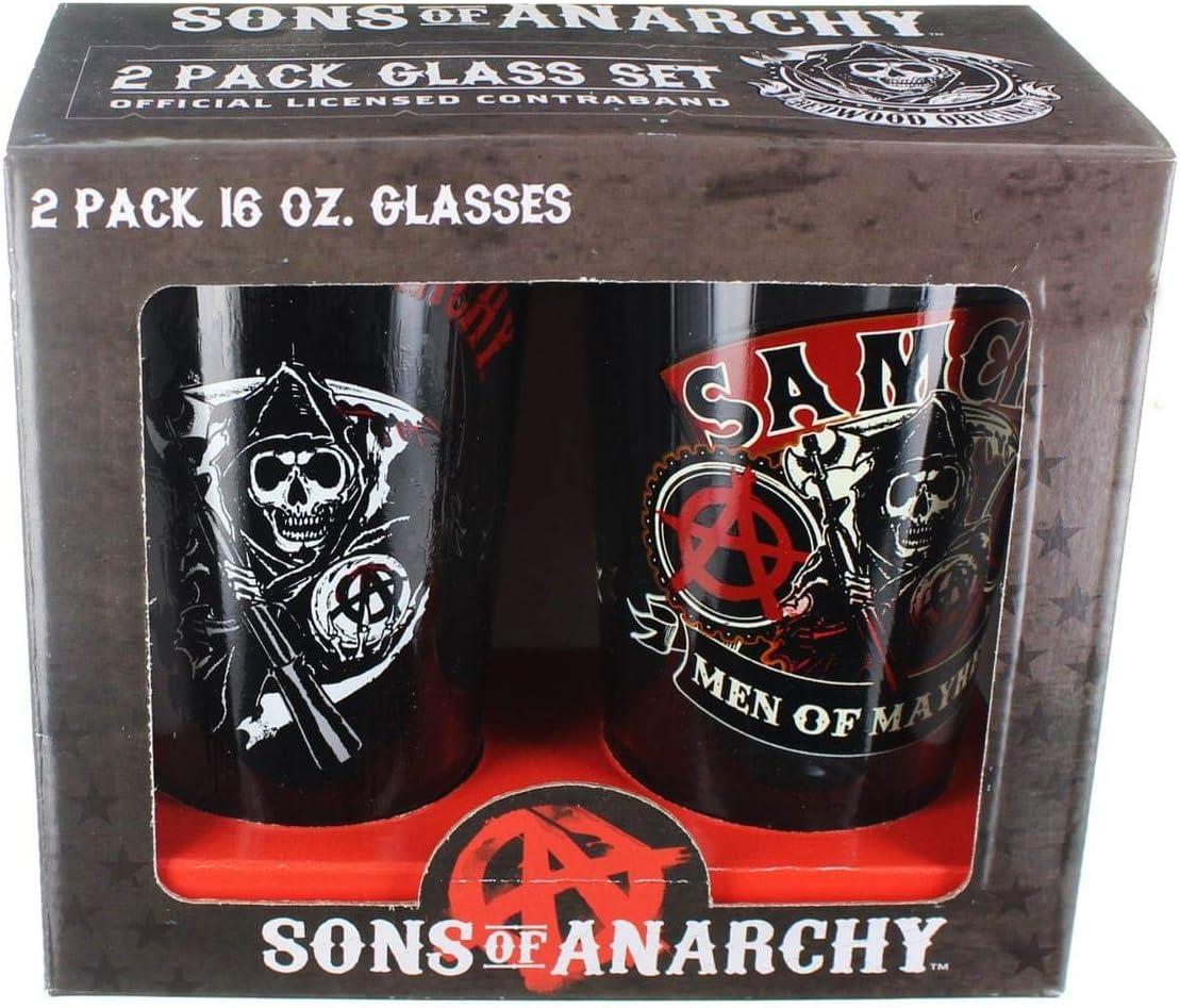Toy Zany Sons of Anarchy 2 Piece Set Vaso de Cerveza: Amazon.es: Juguetes y juegos