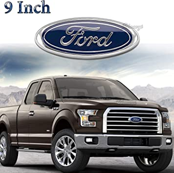 9Inch For F150 F250 Front Grille Tailgate Black Emblem Oval Badge Nameplate