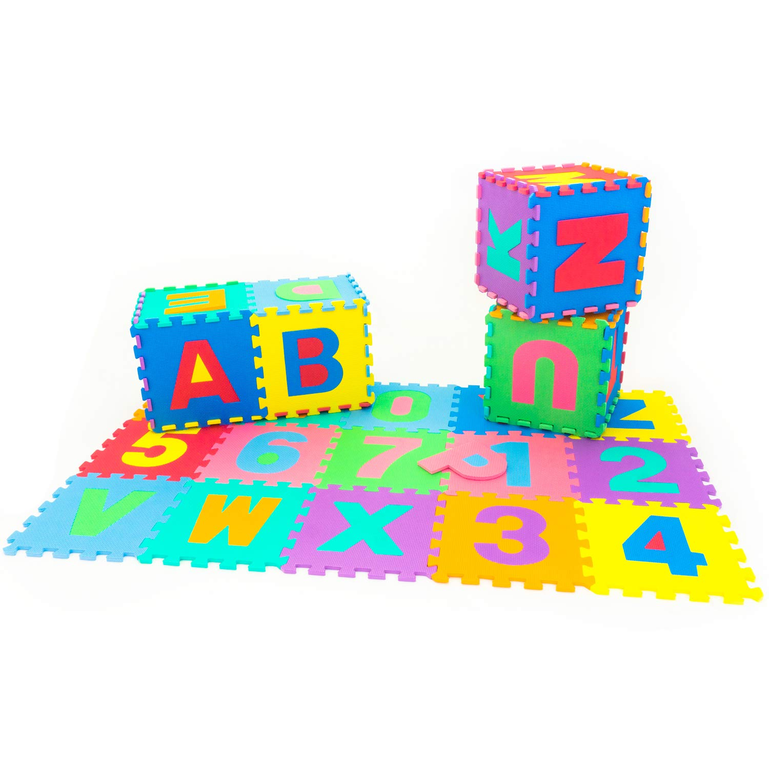 ProSource Kids Foam Puzzle Floor Play Mat with Shapes /& Colors or Numbers /& Alphabets 36 Tiles 12x12 and 24 Borders 36 Tiles and Edges Play Mat 12 by 12 ProSource Discounts Inc 810244020517