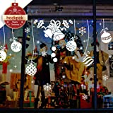 Christmas Window Wall Stickers Jingle Bells Removable Murals 30 * 90cm 2 Sheets