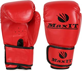 product image for MAXIT Kids Boxing Gloves, Sparring, Boxing, Kickboxing Training Gloves, Red, 8OZ