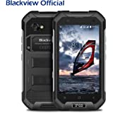 Rugged Phone,Blackview BV6000S Android 6.0 IP68 Waterproof Dustproof Shockproof Unlocked Mobile Phone with 4500mAh Big Battery, 4.7'' HD 1280*720 Screen 4G, Tough dual SIM Phone,2GB RAM+16GB ROM, 2MP+8MP Camera, NFC GPS GLONASS PTT Function-Black
