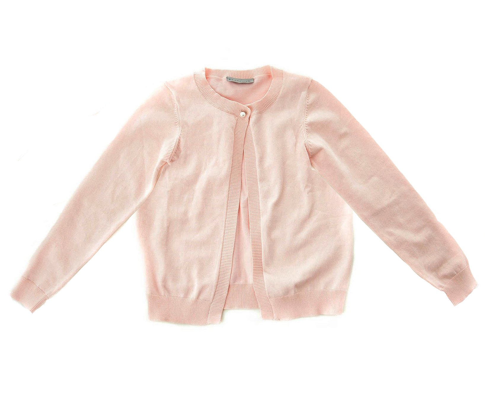 Hollywood Star Fashion Khanomak Women's Kids Girls Cropped Shrug Cardigan Sweater (Size 11/12, Baby Pink)