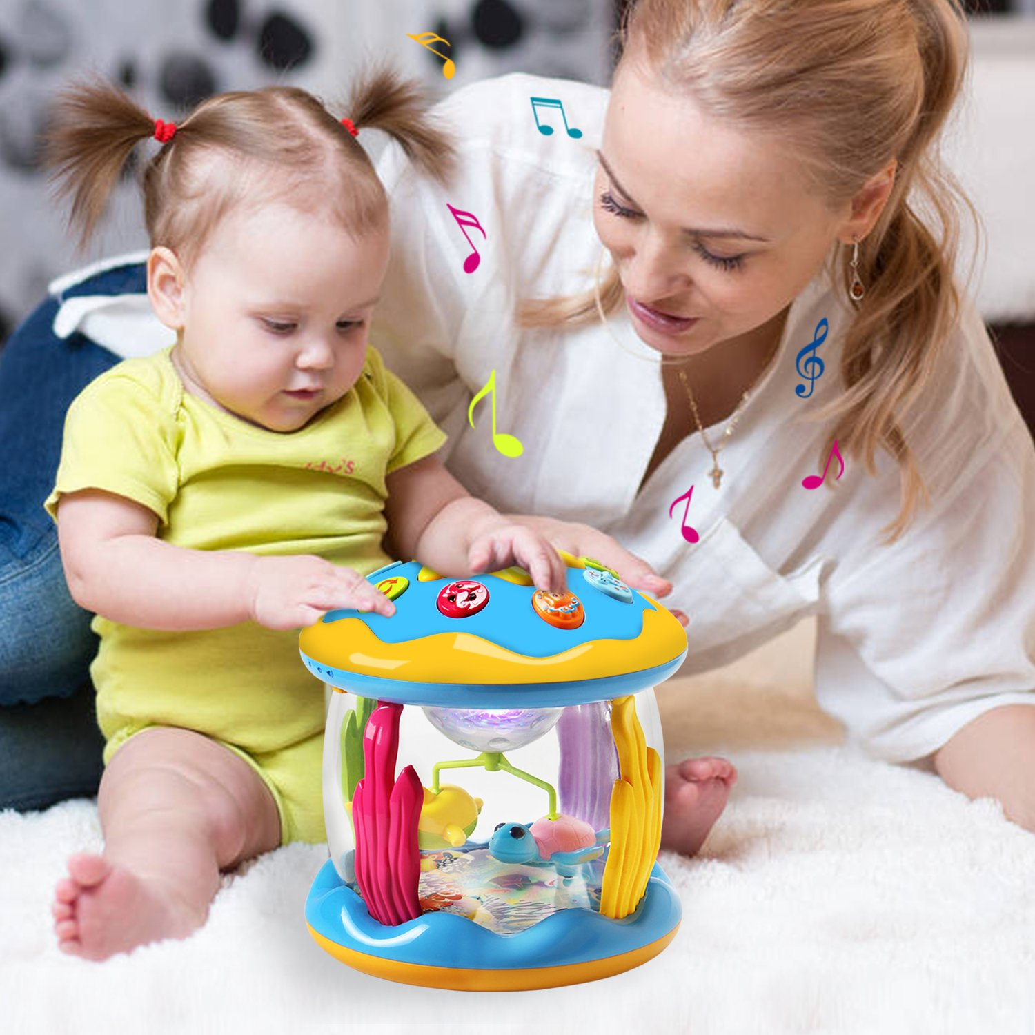 HOMOFY Baby Toys Ocean Park Rotating Projector,Various Pacify Music & Light,Super Fun,Early Educational Toys for 1 2 3 Year Girls and Boys Kids or Toddlers(BEST GIFTS) by HOMOFY (Image #3)