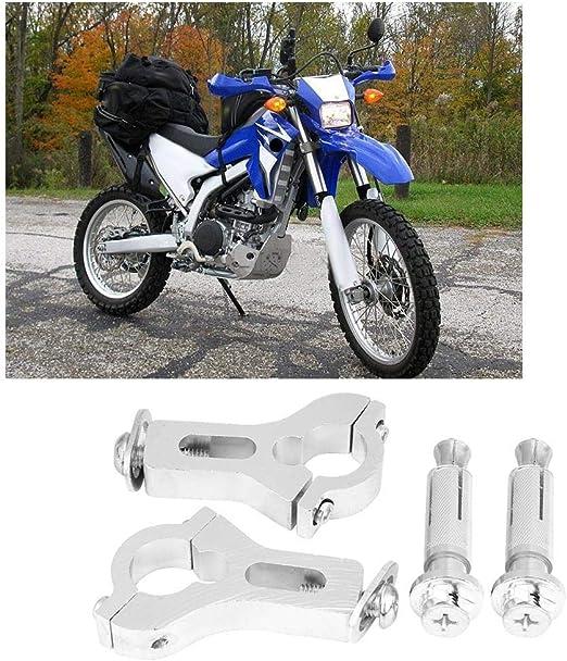 EBTOOLS Manguito De La Motocicleta Manejador De Motocicleta Al Aire Libre Guardamanos Protector De Mano Con Luz Blanca Accesorio De Seguridad
