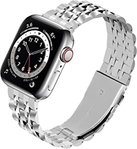 Fullmosa Stainless Steel Bands Compatible with Apple Watch Band 38mm 40mm 42mm 44mm, Stainless Steel Metal Wristband for iWatch Series 5/4/3/2/1