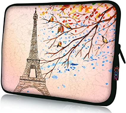 "10/"" 10.1/"" 10.2/"" 9 8 Laptop Sleeve Netbook Sleeve Bag Case Cover Tablet Red Rose"