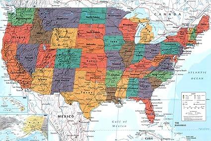 Amazon.com: GB Eye Limited Map United States Political ...