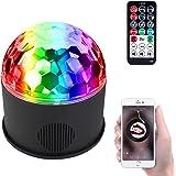 iHOVEN ステージライト 舞台照明 Bluetooth ワイヤレス ディスコライト スピーカー内蔵 音楽再生 音声制御 マジックボール クリスタル RGB多色変化 コンパクト エフェクトライト 回転ライト 水晶魔球 ミラーボール 誕生日 ダンス お祝い 雰囲気を盛り上げる 多機能 LEDライト 投影ライト リモコンコントロール 多機能 LEDライト 投影ライト 照明用ライト クリスマスライト (M)