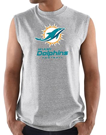 6766f6aa8 Miami Dolphins Majestic NFL  quot Critical Victory 3 quot  Men s Sleeveless  T-shirt