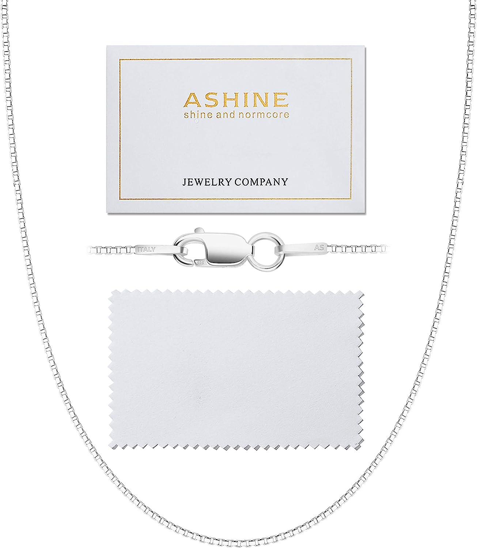 "Sterling Silver Necklace Box 16/"" 925 Hallmark"