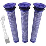 Auloo 3 Pack Filter Replacements for Dyson Absolute Animal Motorhead V8+, V8, V7, V6, DC62, DC61, DC59, DC58 Vacuum…