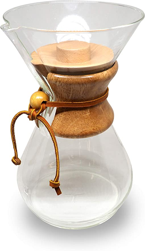 Wood Lid Cover for Chemex Coffee Maker 6, 8 or 10-Cup - Jupiter