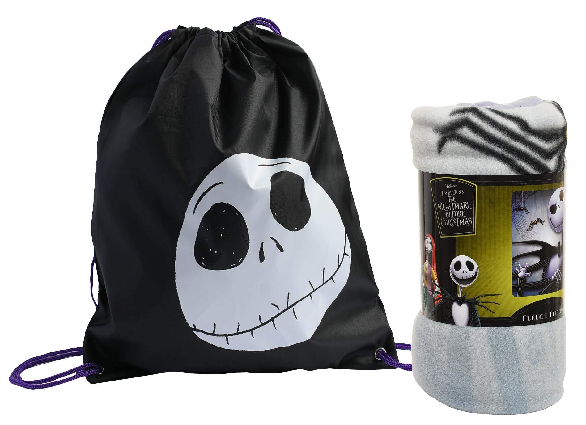 Disney / Northwest Nightmare Before Christmas Throw Blanket & Sling Bag - 2 pc Set by Disney / Northwest