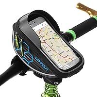 Bike Handlebar Bag Lixada Bicycle Frame Bag Bike Front Top Tube Bicycle Touchscreen Saddle Bag Rack For Smartphones up to 6 inch