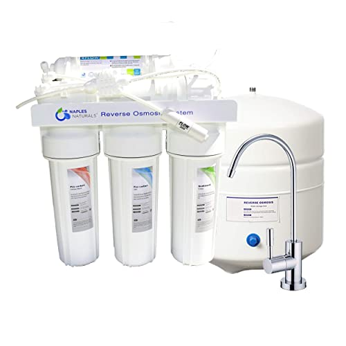 Naples Naturals RO55 Reverse Osmosis Water Filter System 5-Stage