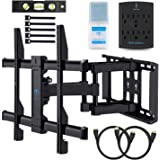 """Amazon Price History for:Wall Mount TV Bracket For 37-70"""" TVs - Full Motion with Articulating Arm & Swivel - Holds up to 132 lbs & Extends 16"""" - Fits Plasma Flat Screen TV Monitor Includes Surge Protector by PERLESMITH"""