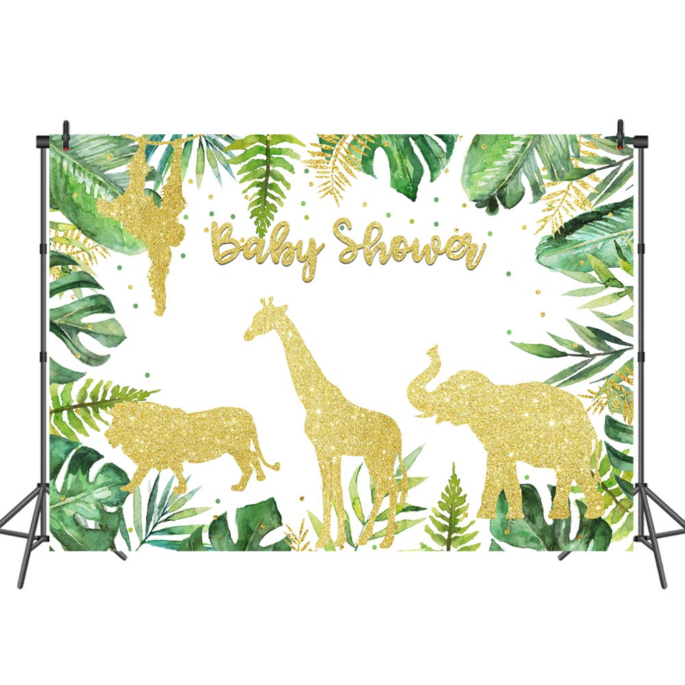 Amazon Com Mehofoto Gold Safari Baby Shower Gold Animal Watercolor