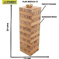 Toy-Station 48 Pcs Blocks Wooden Tumbling Stacking Jenga Building Tower Game