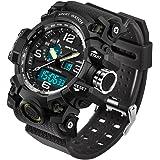 SANDA Men's Digital Watch Large Face LED Wrist...