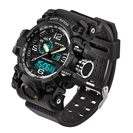 Men's Watches 2018 New Brand Smael Fashion Watch Men G Style 50m Professional Waterproof Sports Military Watches Shock Luxury Analog Digital
